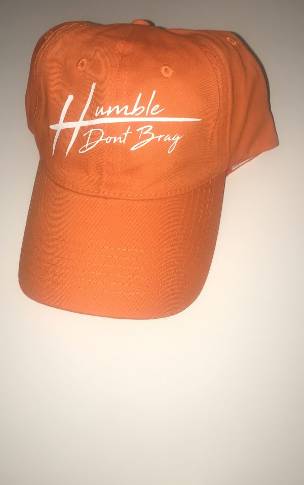 dad cap with white humble dont brag centered